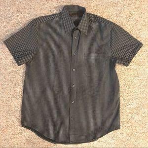 Perry Ellis Circle Print Short Sleeve Shirt